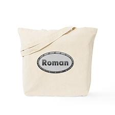 Roman Metal Oval Tote Bag