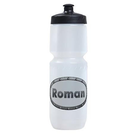 Roman Metal Oval Sports Bottle
