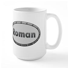 Roman Metal Oval Mugs