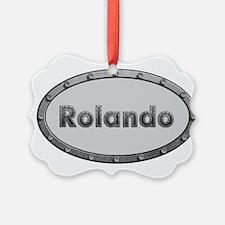 Rolando Metal Oval Ornament