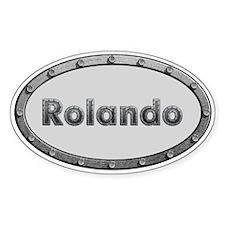 Rolando Metal Oval Decal