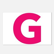 Letter G Pink Postcards (Package of 8)