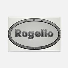 Rogelio Metal Oval Magnets