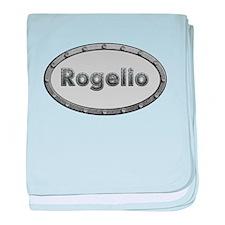 Rogelio Metal Oval baby blanket