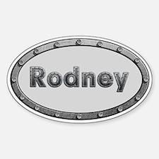 Rodney Metal Oval Decal