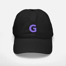 Letter G Purple Baseball Hat