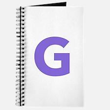 Letter G Purple Journal
