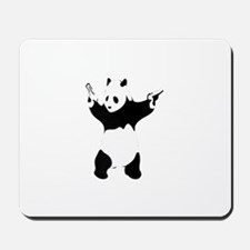 Banksy panda with gun Mousepad