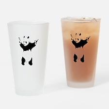 Banksy panda with gun Drinking Glass