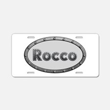 Rocco Metal Oval Aluminum License Plate