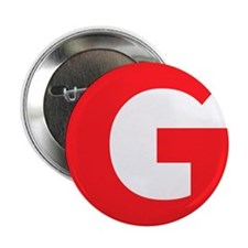 """Letter G Red 2.25"""" Button"""