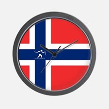 Team Cross Country Norway Wall Clock