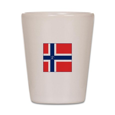 Team Cross Country Norway Shot Glass