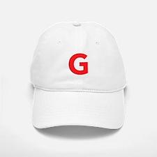 Letter G Red Baseball Baseball Baseball Cap