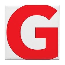 Letter G Red Tile Coaster