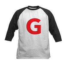 Letter G Red Baseball Jersey