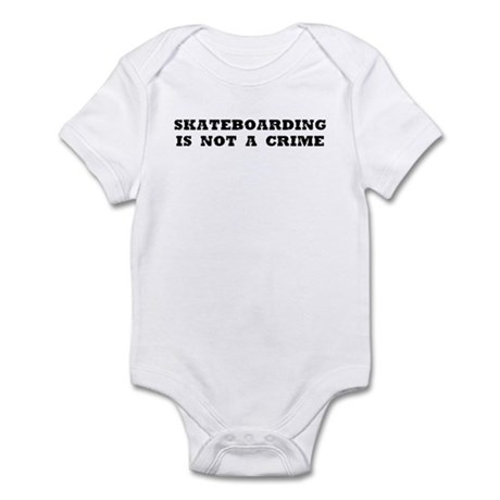 Skateboarding is not a crime Infant Bodysuit
