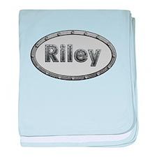 Riley Metal Oval baby blanket
