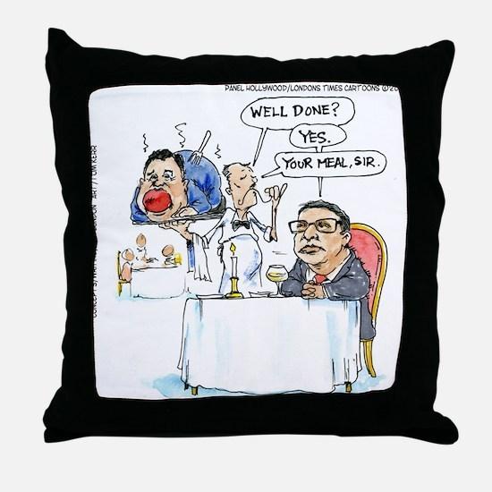 WildSteen Eats Christie Throw Pillow