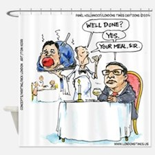 WildSteen Eats Christie Shower Curtain