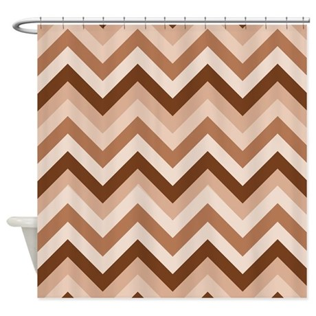 Brown Chevrons Shower Curtain By ShowerCurtainsWorld