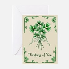 Shamrock Bouquet Greeting Cards (Pk of 10)