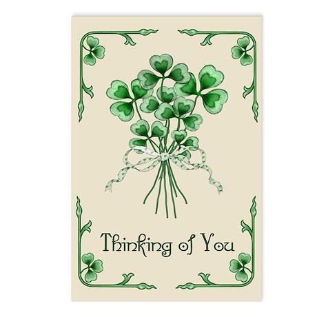 Shamrock Bouquet Postcards (Package of 8)