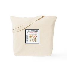 Nurses Who Vaccinate Logo Tote Bag
