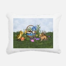 Easter Bunny Rectangular Canvas Pillow