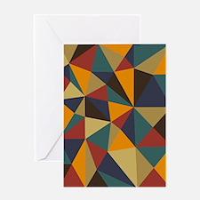 Geometric Triangle Art Greeting Card