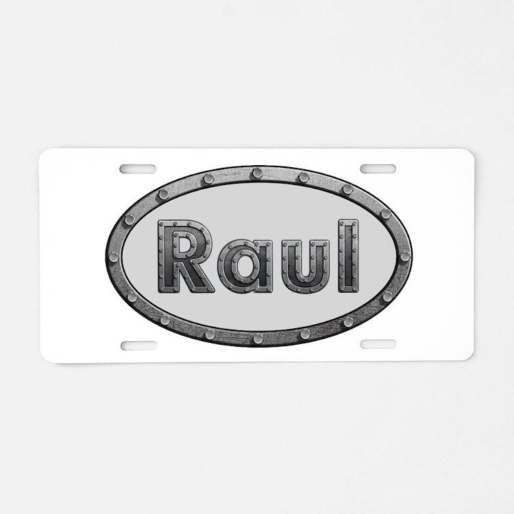 Raul Metal Oval Aluminum License Plate