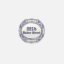 221b Baker Street Mini Button