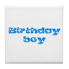 Birthday boy Tile Coaster