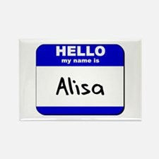 hello my name is alisa Rectangle Magnet