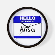 hello my name is alisa  Wall Clock