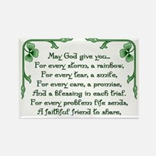 Shamrock Bouquet Rectangle Magnet (10 pack)