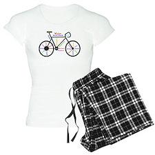 Bike made up of words to motivate pajamas