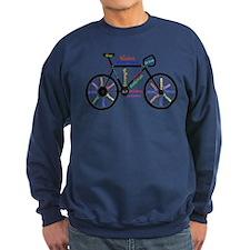 Bike Made Up Of Words To Motivat Sweatshirt (Dark)