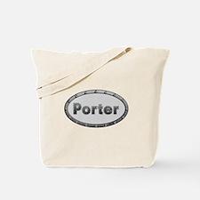 Porter Metal Oval Tote Bag