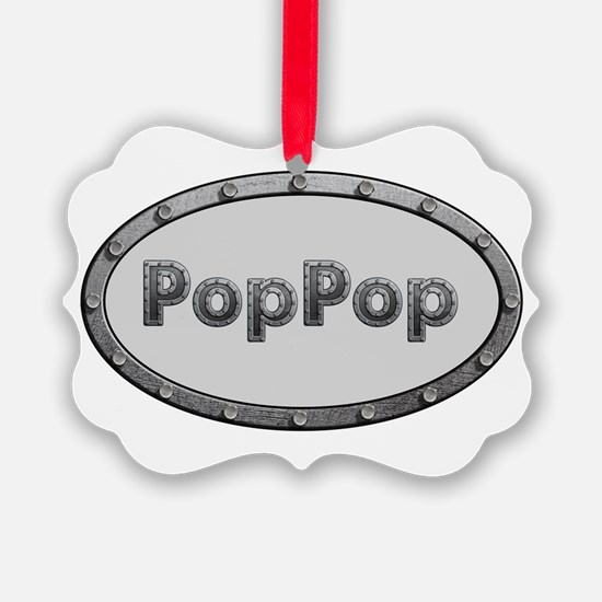 PopPop Metal Oval Ornament