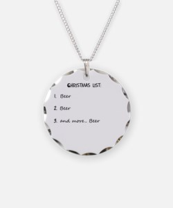 Christmas list BEER Necklace