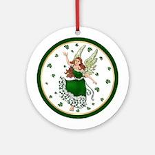 Irish Shamrock Magic Ornament (Round)