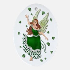 Irish Shamrock Magic Oval Ornament
