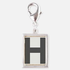 Letter H Dark Gray Charms