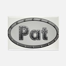Pat Metal Oval Magnets