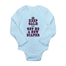Keep Calm New Diaper Body Suit