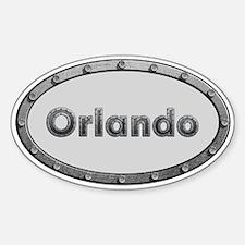 Orlando Metal Oval Decal