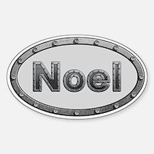 Noel Metal Oval Decal