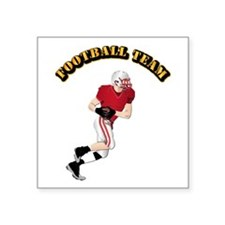 "Sports - Football Team Square Sticker 3"" x 3"""