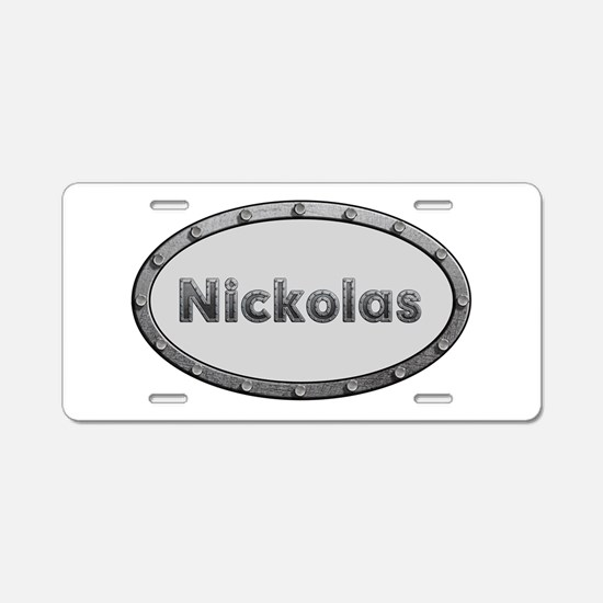 Nickolas Metal Oval Aluminum License Plate